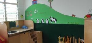 school muur